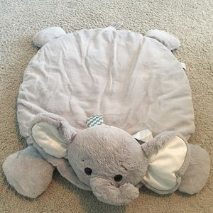 Plush Elephant Tummy Time Pillow